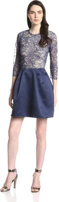 Erin Fetherston Erin Women's Delphine Lace Combo Fit and Flare Dress