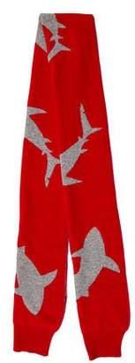 Christopher Raeburn Shark Pattern Wool Scarf