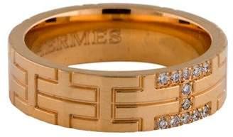 Hermes 18K Diamond H Ring