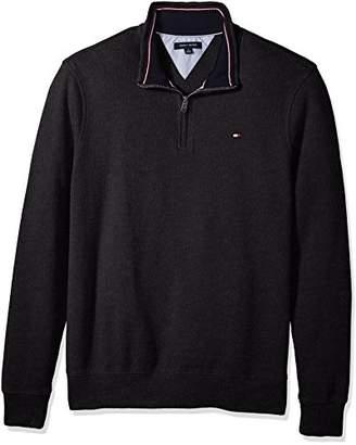 Tommy Hilfiger Men's Big and Tall 1/4 Zip Pullover Sweatshirt