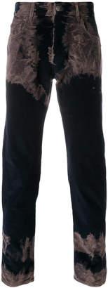 Gucci Tie-dye corduroy punk trousers