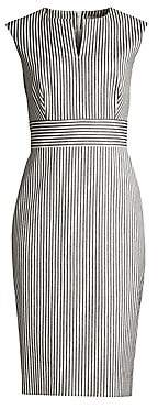 Max Mara Women's Caraffa Pinstripe Sleeveless Sheath Dress