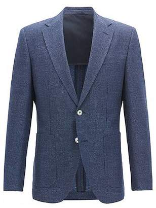 HUGO BOSS Regular-fit jacket with mother-of-pearl buttons