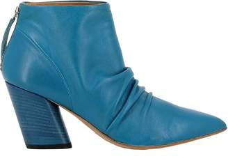 Halmanera Petrolio Leather Ankle Boots