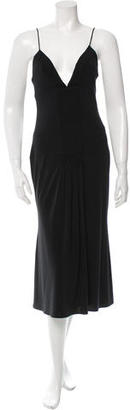 Vera Wang Ruched Midi Dress $155 thestylecure.com
