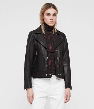 AllSaints Zola Leather Biker Jacket