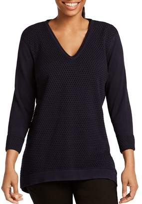 Foxcroft Presley Mixed Knit Sweater