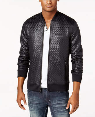 INC International Concepts I.n.c. Men's Basket-Weave Bomber Jacket