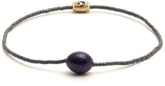 Luis Morais Bead And Enamel Bracelet - Mens - Grey Multi