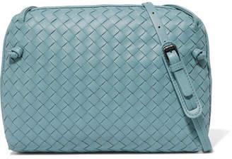 Bottega Veneta Nodini Intrecciato Leather Shoulder Bag - Blue