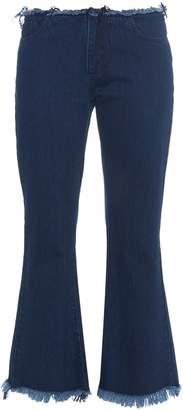 Marques Almeida MARQUES'ALMEIDA Frayed-edge flared cropped jeans
