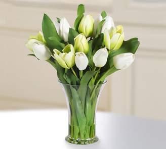Pottery Barn Faux Tulip in Glass Vase