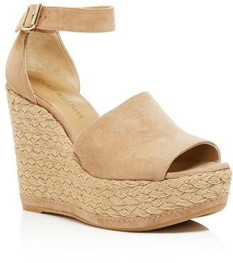 Stuart Weitzman Sohojute Platform Wedge Sandals $455 thestylecure.com