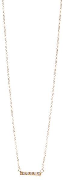 Jacquie Aiche CZ Mini Bar Necklace
