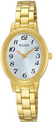 Pulsar Womens Gold-Tone Stainless Steel Bracelet Watch
