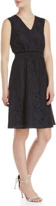 Yumi Sleeveless Lace Fit & Flare Dress