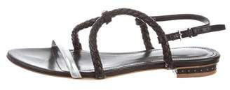 Maiyet Leather Braided Sandals