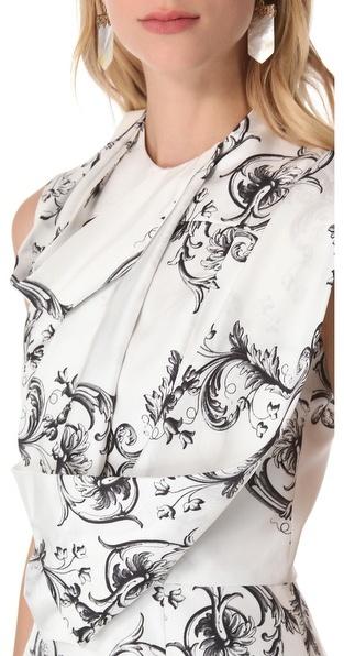 Ellery Sleeveless Drape Shift Dress