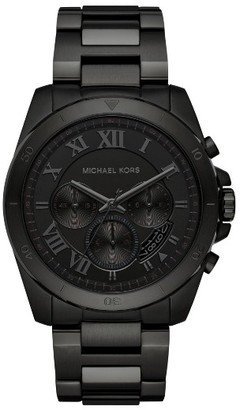 Women's Michael Kors 'Brecken' Chronograph Silicone Strap Watch, 44Mm $295 thestylecure.com