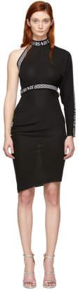 Versace Black Single Sleeve Dress