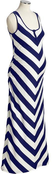 Old Navy Maternity Chevron-Striped Maxi Tank Dresses