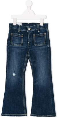 Dondup Kids distressed flared jeans
