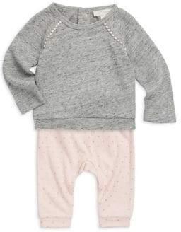 Miniclasix Baby Girl's Two-Piece Top& Pant Set
