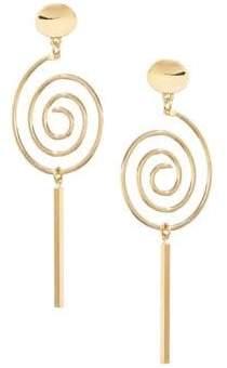 HBC BIKO X 14K Goldplated Swirl Duster Drop Stud Earrings