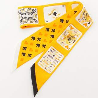 Hermes Twilly Yellow Silk Scarves