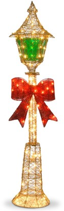National Tree Company Gold Wire Lamp Post Christmas Floor Decor