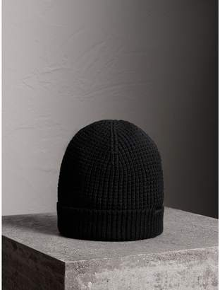 Burberry Cashmere Blend Waffle Knit Beanie