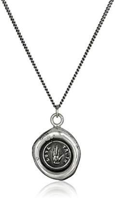 "Pyrrha talisman"" Sterling Love Truth Necklace"