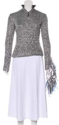 Wanda Nylon Long Sleeve turtleneck Top