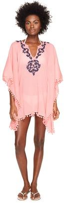 Letarte - Embroidered Poncho Women's Swimwear $248 thestylecure.com