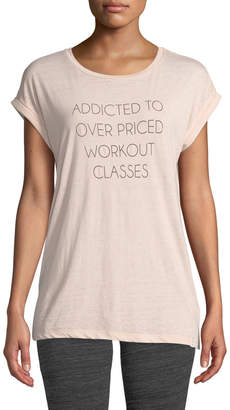 Marc Ny Performance Workout Class Addict Washed Slogan Tee