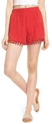 Moon River Pompom Trim Shorts