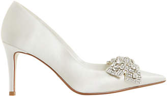 Dune Bridal Collection Beaubelle Stiletto Heeled Court Shoes, Ivory