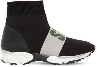 Stella McCartney Elastic Logo Band Sock Sneakers