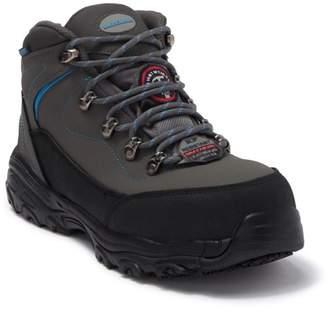 Skechers D Lite Amasa Leather Waterproof Alloy Toe Work Boot - Wide Width Available