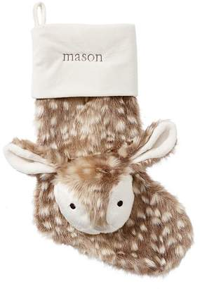 Pottery Barn Kids Fawn Faux-Fur Stocking