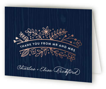 Into the Woods Foil-Pressed Thank You Cards