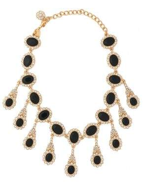 Kenneth Jay Lane Gold-Tone Stone And Crystal Necklace