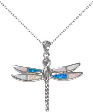 Bean & Vanilla Multicolor-Opal Dragonfly Pendant