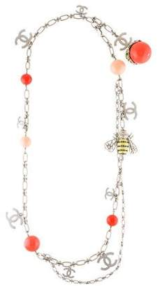 Chanel Crystal, Faux Pearl & Enamel Charm Necklace