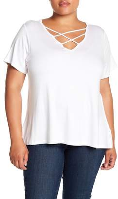 Wilson Rebel X Angels Cross Strap Front Tee (Plus Size)