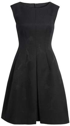 Anne Klein Jacqaurd Fit & Flare Dress