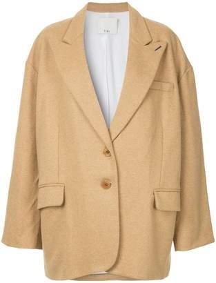 Tibi Liam flannel oversized tuxedo jacket
