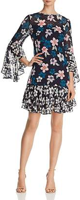 Eliza J Floral Bell-Sleeve Dress