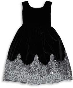 Isabel Garreton Little Girl's Sparkle Hem Fit-&-Flare Dress
