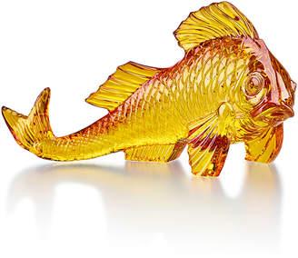 Baccarat Amber Carp Figurine